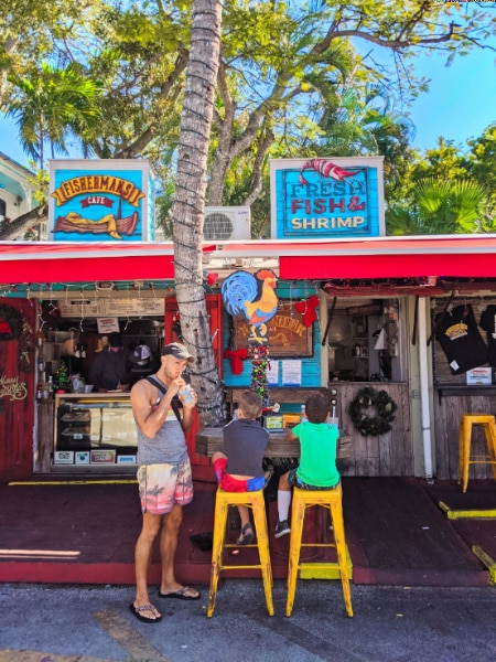 Taylor Family at Fisherman's Cafe Historic Seaport Key West Florida 2020 5