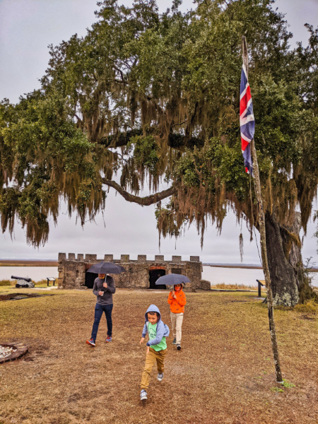 Taylor Family at Fort Frederica National Monument St Simons Island Georgia 2
