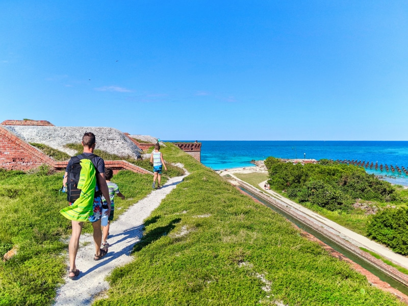 Taylor Family at Fort Jefferson Dry Tortugas National Park Key West Florida Keys 2020 20