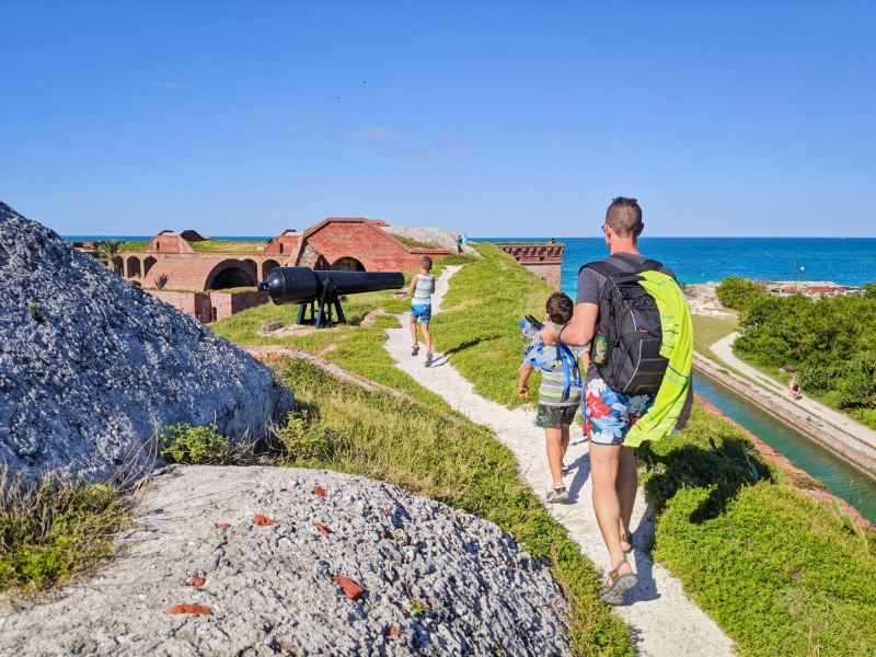 Taylor Family at Fort Jefferson Dry Tortugas National Park Key West Florida Keys 2020 21