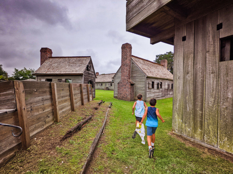 Taylor Family at Fort King George Historic Site in Durien Coastal Georgia 2