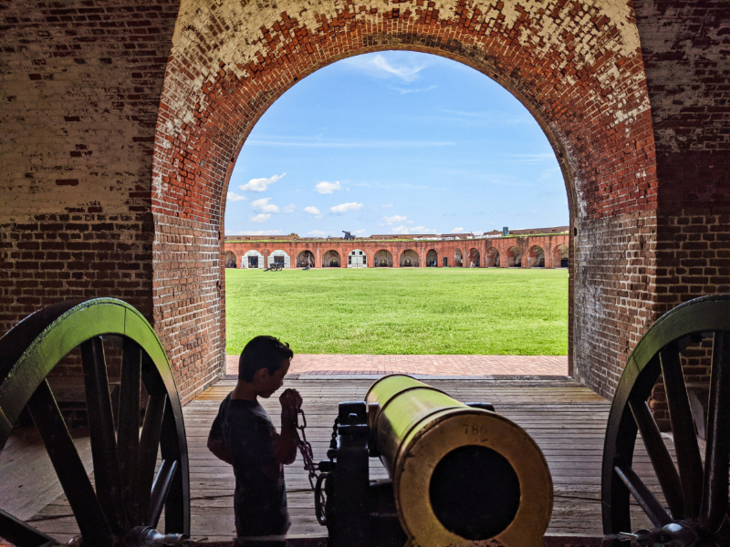 Taylor Family at Fort Pulaski National Monument Tybee Island Georgia 3