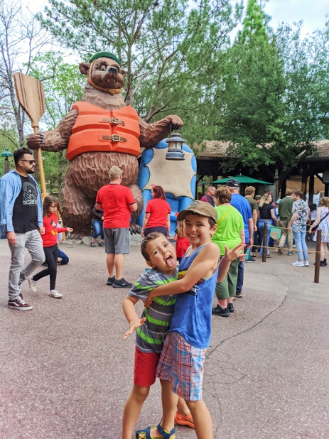 Taylor Family at Grizzly River Rapids Disneys California Adventure 2020 2