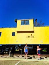 Taylor Family at Guadalupe Train Station on Caboose Santa Maria Valley California 3