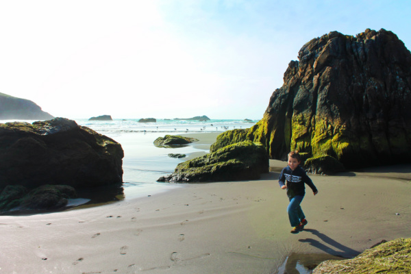 Taylor Family at Harris Beach State Park Brookings Oregon 7