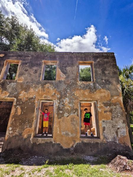 Taylor Family at Horton House Ruins Jekyll Island Golden Isles Georgia 5