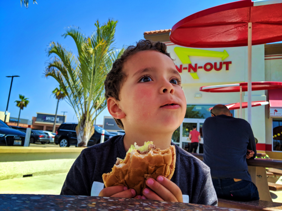 Taylor Family at In N Out Burger El Segundo Los Angeles California 1