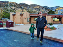 Taylor Family at Kolob Canyons visitor center Zion National Park Utah 1