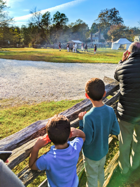 Taylor Family at Military Activities in Market Square Colonial Williamsburg Virginia 1