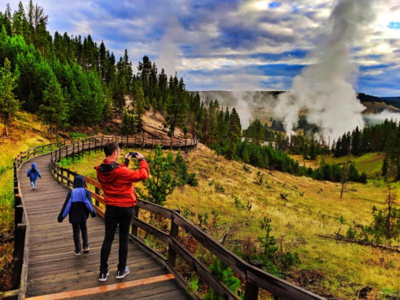 Taylor Family at Mud Volcanoes Yellowstone NP Wyoming 4