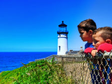 Taylor Family at North Head lighthouse trail Cape Disappointment State Park Ilwaco Washington 3