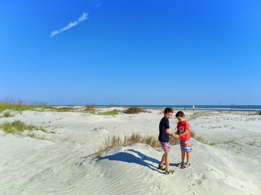 Taylor Family at Ocean Hammock Park Saint Augustine Beach Florida 2