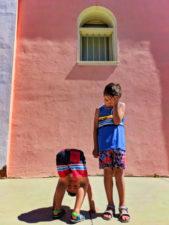 Taylor Family at Pink building downtown Guadalupe Santa Maria Valley California 4