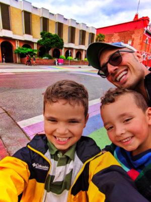 Taylor Family at Rainbow Sidewalk Victoria BC 1