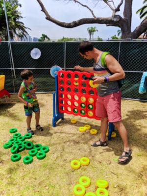 Taylor Family at San Diego Pride Festival Childrens Garden Balboa Park SD California 1