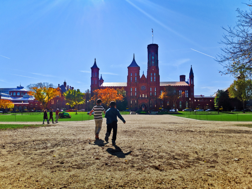Taylor Family at Smithsonian Castle National Mall Washington DC 1