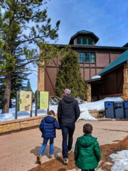Taylor Family at Visitor Center at Bryce Canyon National Park Utah 1