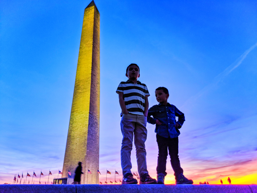 Taylor Family at Washington Monument National Mall Washington DC 3