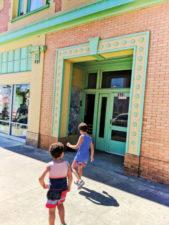 Taylor Family at art deco building downtown Guadalupe Santa Maria Valley California 4