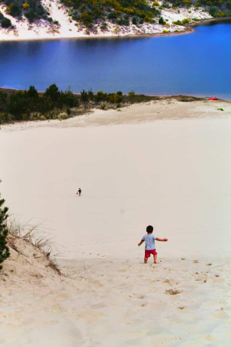 Taylor Family at dunes at Honeyman State Park Sand Dunes Florence Oregon Coast 21