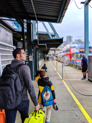 Taylor Family boarding Victoria Clipper Seattle Waterfront 3