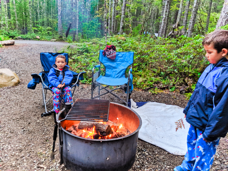 Taylor Family camping at Big Creek Campground Olympic National Forest Washington 1