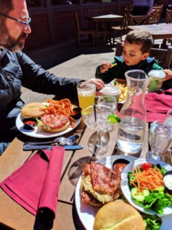 Taylor Family dining at Red Rock Grill Zion Lodge Zion National Park Utah 2