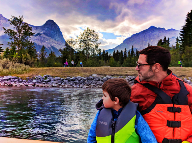 Taylor Family float trip Canmore Rafting Banff Alberta 1