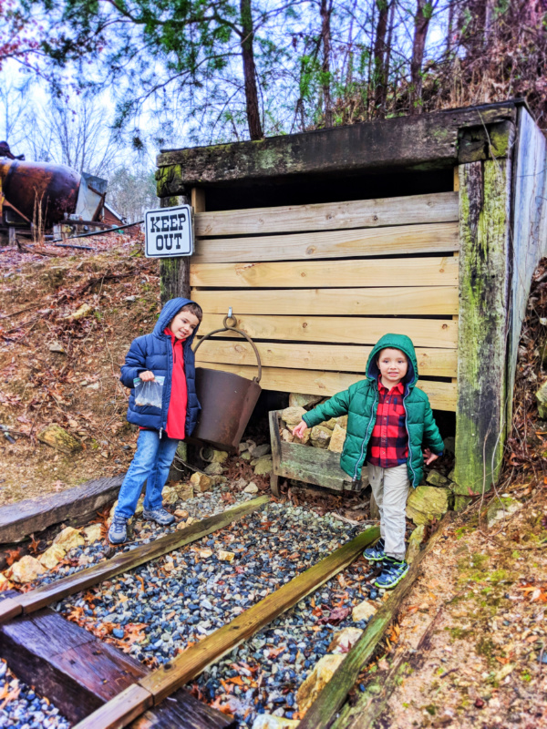 Taylor Family gold panning at Crisson Mine in Dahlonega Georgia 6