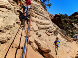 Taylor Family hiking Canyon Overlook Trail Zion National Park Utah 1