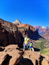 Taylor Family hiking Canyon Overlook Trail Zion National Park Utah 3