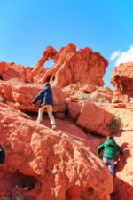 Taylor Family hiking at Elephant Rock trail Valley of Fire State Park Las Vegas Nevada 2
