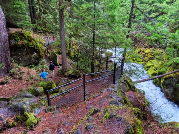 Taylor Family hiking at Tokatee Falls Umpqua National Forest Oregon 13