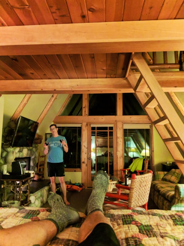 Taylor Family in AFrame cabin at Weasku Inn Grants Pass Oregon 4