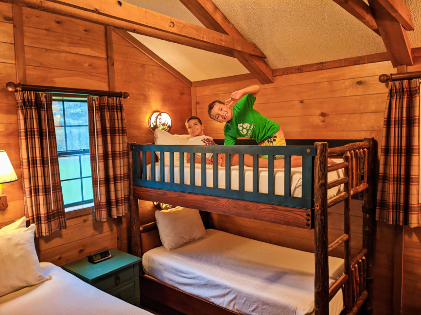 Taylor Family in Fort Wilderness Resort and Campground Cabin Disney World Orlando 3