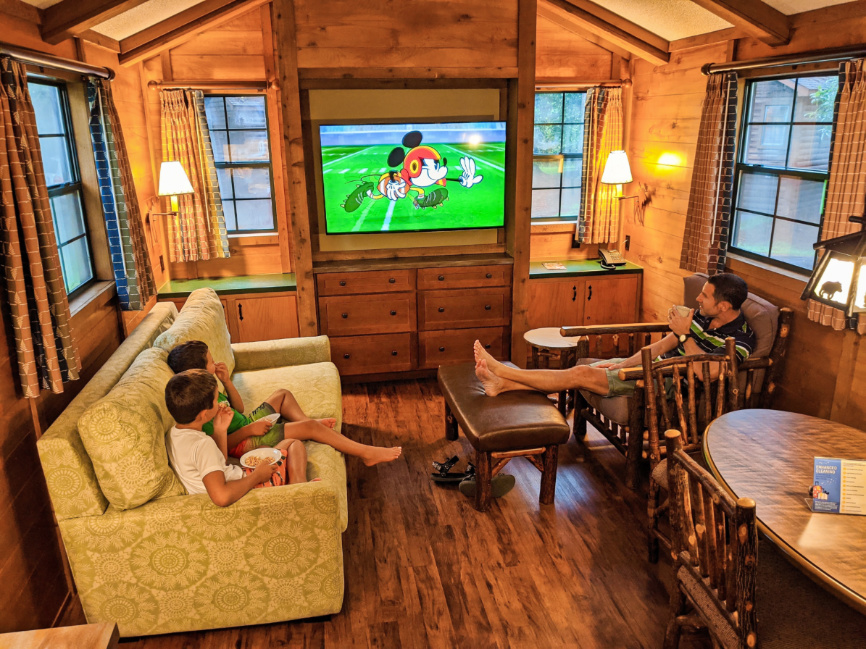Taylor Family in Fort Wilderness Resort and Campground Cabin Disney World Orlando 5