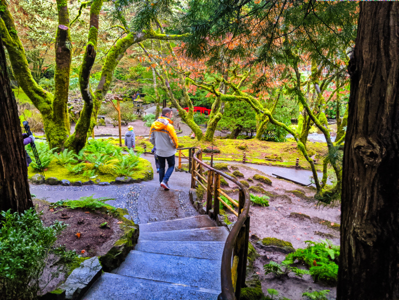 Taylor Family in Japanese Garden Butchard Gardens Victoria BC 1