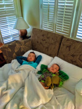 Taylor Family in King Suite room at Best Western Island Palms Hotel San Diego California 1