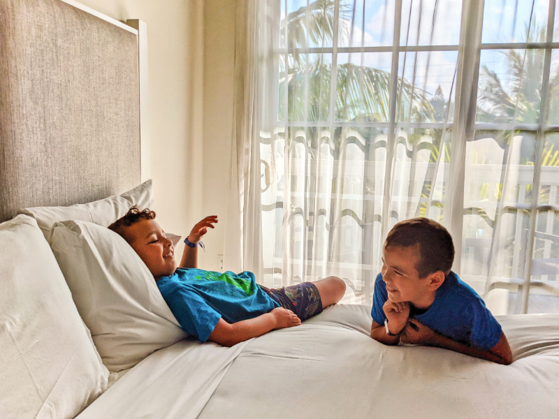 Taylor Family in Room at Marker Resort Hotel Key West Florida Keys 3
