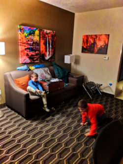 Taylor Family in Two Queen Room at Best Western Plus Zion Canyon Springdale Utah 1