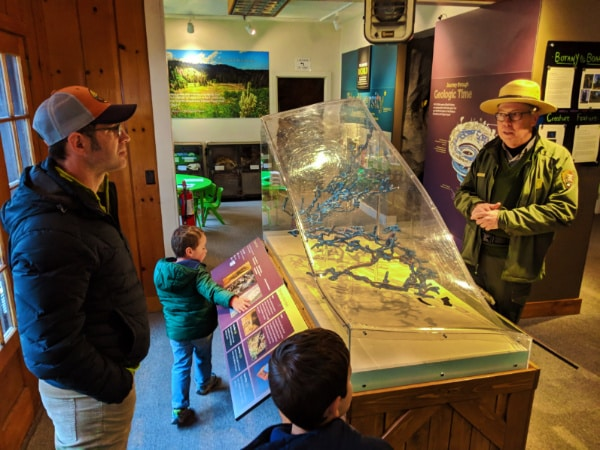 Taylor Family in Visitors Center at Oregon Caves National Monument Cave Junction Oregon 2