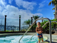 Taylor Family in hot tub at Best Western Island Palms Hotel San Diego California 1