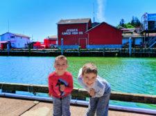 Taylor Family in marina in Ilwaco Washington 2
