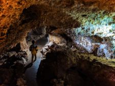 Taylor Family in narrow passageway in Lewis and Clark Caverns State Park Montana 1