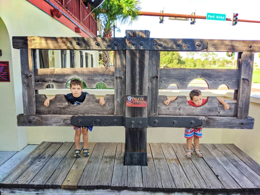 Taylor Family in stocks at Pirate and Treasure Museum St Augustine FL 1