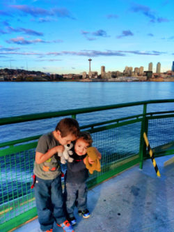 Taylor Family on Bainbridge Ferry to Seattle 4