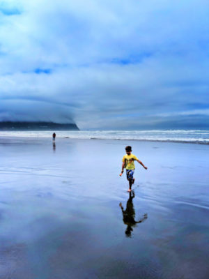 Taylor Family on Beach from Downtown Seaside Oregon Coast 5
