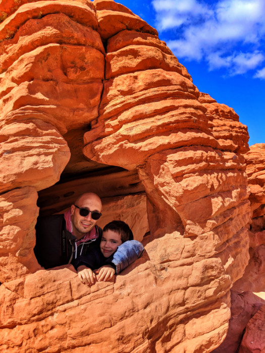 Taylor Family on Beehives Sandstone at Valley of Fire State Park Las Vegas Nevada 1