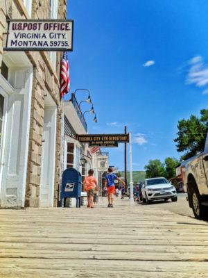 Taylor Family on Boardwalk in Virginia City Montana 7