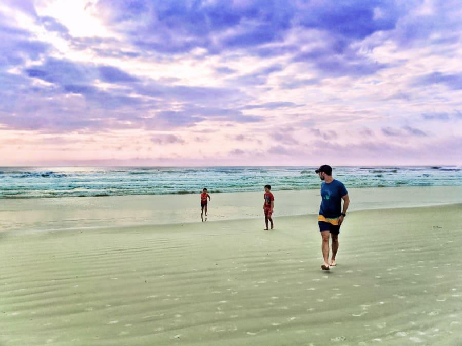 Taylor Family on Butler Beach Saint Augustine Florida 1